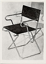 Folding chair, designed in 1928 by Marcel Breuer
