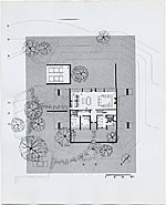 Geller House II, Main Floor Plan, Lawrence, Long Island, New York