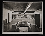 Gagarin House I, Conn., designed by Marcel Breuer.  Interior view