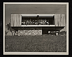 Wolfson Trailer House designed by Marcel Breuer. Pleasant Valley, New York. View of South elevation