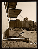 [Breuer House, New Canaan, Conn.. Rear entrance ]