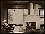 Caesar Cottage, Lakeville, Conn., designed by Marcel Breuer.  Interior view