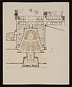 Plan of: St. Johns Abbey Church, monastic wing, studdent dormitory, and projected library, Collegeville, Minnesota