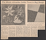 The mobile Alexander Calder turns to rug design
