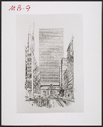 Grand Central Air Rights Building, proposal drawing