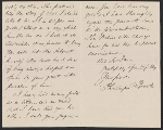 [Phillips Brooks letter to Sarah Wyman Whitman 1]