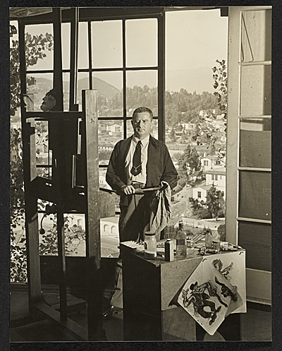 [Alexander Brook in his Los Angeles studio]