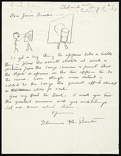 Thomas Hart Benton letter to James Brooks