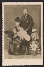 Romaine Brooks as a baby with her family
