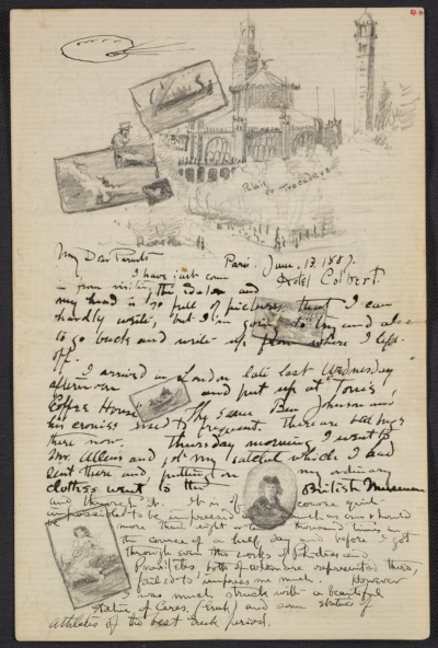 [Bolton Coit Brown, Paris letter to Edmund Woodward Brown and Martha Coit Brown]