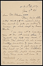 John George Brown letter to Hayden W. Wheeler