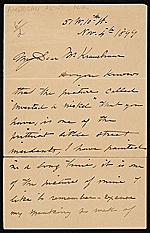 [John George Brown letter to Mr. Kraushaar ]