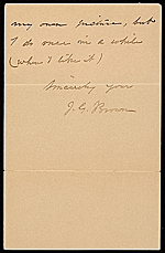 [John George Brown letter to Mr. Kraushaar 1]