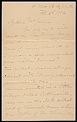 John George Brown letter to Mrs. George Alfred Joslyn
