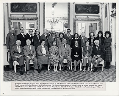 [Board of the American Art Journal at an award luncheon held at the Plaza Hotel, New York City]