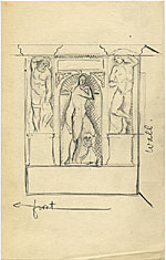 [Sketch of the reconstruction of the tomb of Julius II ]