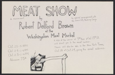 Exhibition announcement for Meat Show