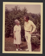 [Lucy Morgan and Bill Brown on Penland's campus, ca. 1965 1]