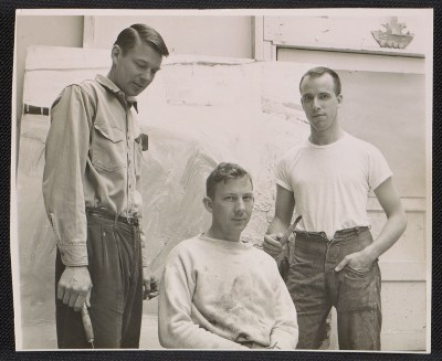 [Richard Diebenkorn, Paul Wonner, and William Theo Brown at Berkeley]