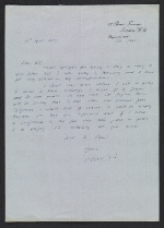 David Hockney letter to William Theo Brown