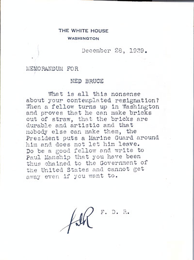 [Franklin D. Roosevelt letter to Edward Bruce]