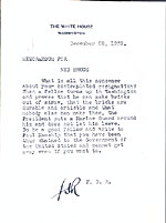 Franklin D. Roosevelt letter to Edward Bruce