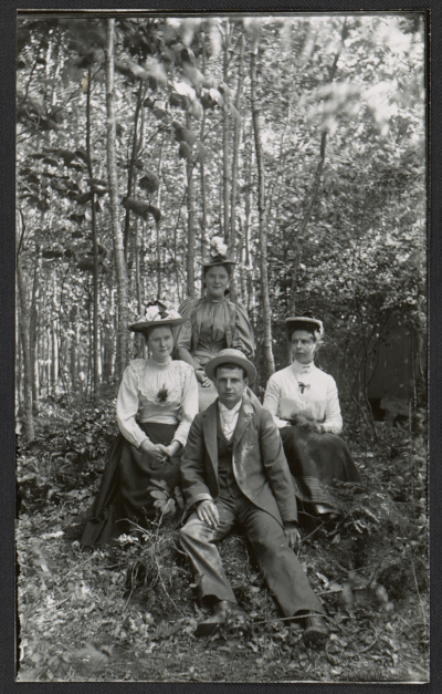 [Bessie Price, Annie Price, Edward Meehan, and Delia Duke]