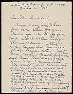 [Nancy Douglas Bowditch, Peterborough, N.H. letter to Thomas B. (Thomas Brendle) Brumbaugh]
