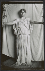 Elise Pumpelly posing for the central figure in Abbott Thayers painting Caritas