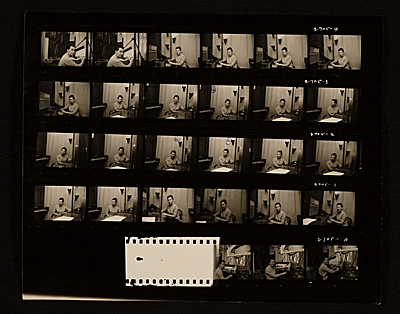 [Irena Brynner contact sheet]