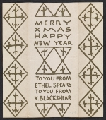 [Kathleen Blackshear and Ethel Spears Christmas card to Andrew A. Bucci 1]