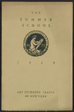 [Catalog of courses for the summer school of the Art Students' League of New York cover ]