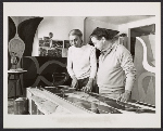 Jeanne and Fritz Bultman working in their studio
