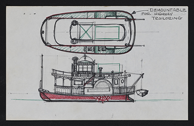 [Study of a steamboat]