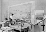William Bunn working on a mural for the Minden Post Office, Minden, NE