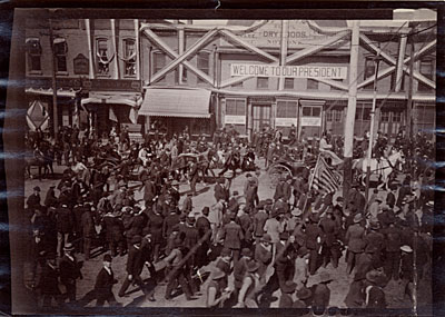 President Benjamin Harrison in Salt Lake City, Utah during his Western tour of the United States