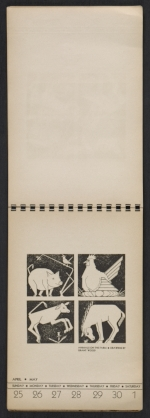 [American block print calendar 1937 pages 18]