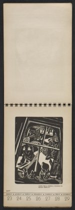 [American block print calendar 1937 pages 22]