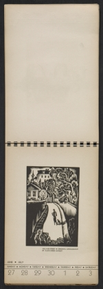 [American block print calendar 1937 pages 27]