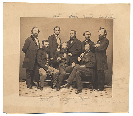 [Portrait of eight American artists.]