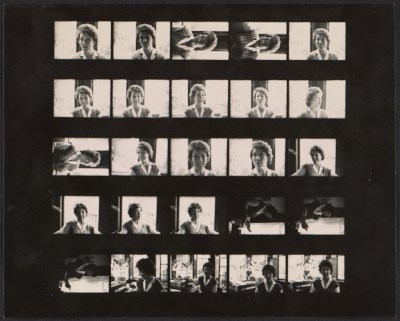 Contact sheet with photographs of Jan Butterfield