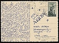 [Paul Cadmus, Florence, Italy postcard to Webster Aitken, Pittsburgh, Pa. postcard back 1]