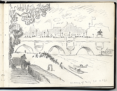 Travel sketchbook from Paris, France