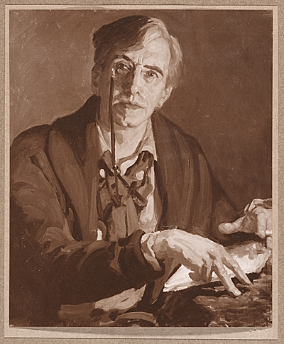 [Painting of Charles Henry Caffin by Howard Hildebrand]