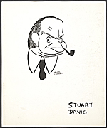[Reproduction of a caricature of Stuart Davis by Aline Fruhauf ]