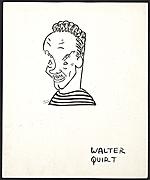 Reproduction of a caricature of Walter Quirt by Aline Fruhauf