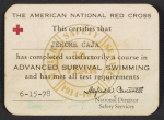 American Red Cross certification of Advanced Survival Swimming for Jerome Caja