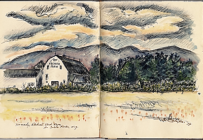 Sketch of Rockwell Kent farm