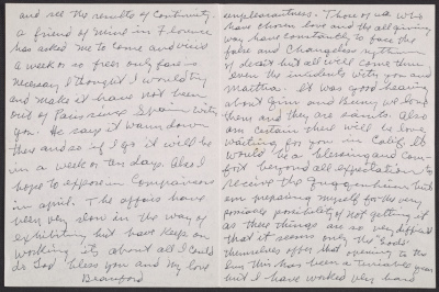 [Beauford Delaney letter to Lawrence Calcgano, Paris 1959]