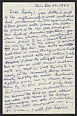 [Beauford Delaney, Paris, France letter to Lawrence Calcagno ]